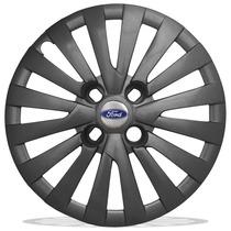 Calota Aro 14 Grafite Para Ford Ka Fiesta Escort Com Emblema