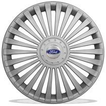 Calota Aro 14 Para Ford Fiesta Ka Escort + Emblema Resinado