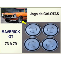 Calota Maverick Gt V8 1973 À 1979 Alumínio Jogo De Calotas