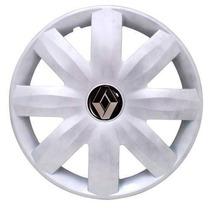 Jogo Calota Clio 07 Logan 08 Renault Aro 14 Emblema Resinado