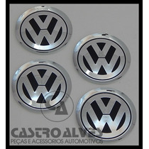 Jg Emblema Volkswagen Alumínio Jetta Roda Liga 78mm - 4 Pçs