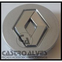 Calota Tampa Miolo Roda Renault Sandero Stepway Prata - 1 Pç