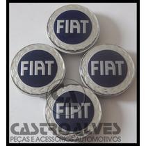 Jg Calota Centro Tampa Roda Esportiva Scorro Fiat 56mm-4 Pçs