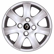 Jogo Calota Aro 14 Renault Clio Sandero Logan Symbol 4 Peças