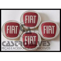 Jogo Calotinha Tampa Roda Esportiva Krmai Fiat 5,6cm - 4 Pçs