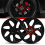 Calota Aro 14 Gm Corsa Joy Maxx Primium Black Red Esportiva