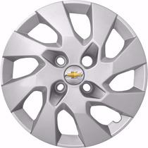 Calota Aro 14 Onix Corsa Celta Prisma + Emblema Gm Alumínio