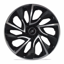 Calota Aro 14 Ds4 Black Chrome Fiat Ford Gm Volks Universal