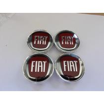 Kit Calotinha Fiat P Roda Jogo C 4 Peças Medida 51mm