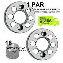 Kit Calota Dianteira Caminhão Aro 16 8 Furos F4000