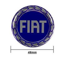 Kit Sub Calota Centro De Roda Miolo Fiat Veicular Azul