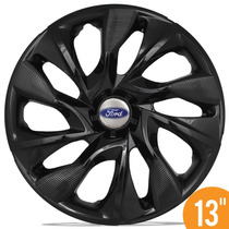 Jogo Calota Esportiva Aro 13 Ds4 Black Ford Ka Fiesta Escort