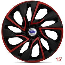Calota Jogo Aro 15 Red Ds4 Ford Ka Fiesta Focus Escort Ecosp