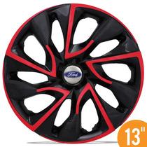 Jogo Calota Esportiva 13 Ds4 Red Cup Ford Ka Fiesta Escort