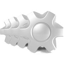 Jogo Calota Centro Roda Prata Mitsubishi L200 Gls Triton