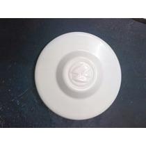 Calota Centro Da Roda Kombi Fusca 4 Furos Branca Plastica
