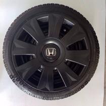 Calota Fit Civic City Honda Aro15 Preto Fosco P458pf