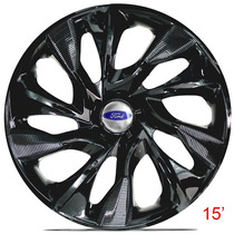 Calota Aro 15 Ds4 Black Ford Ka Fiesta Focus Ecosport Escort