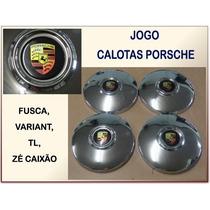 Calota Porsche Fusca Variant Zé Caixão P/rodas 4 Furos Jogo
