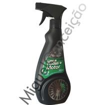 Limpa Rodas Calota E Motor Chassi Moto Carro Spray 500 Ml