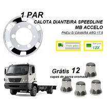 Par Calota Dianteira Caminhão Mb Accelo Aro 17,5 Speedline