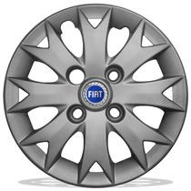 Calota Aro 13 Mod Fiat Palio Fire 2014 Uno Siena + Emblema A