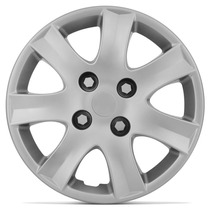 Calota Esportiva Aro 14 Peugeot 207 09 10 11 12 13 14 Prata