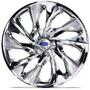 Jogo Calota Aro 14 Ds4 Esp Cromada Ford Ka Fiesta Focus Esco
