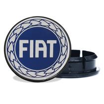Sub Calota Centro De Roda Miolo 49 Mm Para Fiat + Emblema A