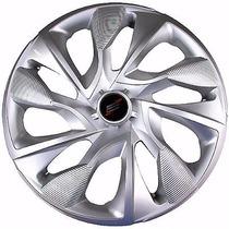 Jogo Calota Esportiva Aro 14 Ford Fiat Chevrolet Vw