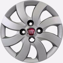 Calota Attractive Palio Aro 14 + Emblema Fiat Alumínio Nova!