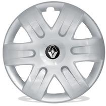Calota Aro 15 Para Renault Sandero Logan Scenic + Emblema