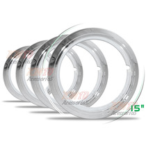 Jogo Sobre Aro Cromado Universal Aro 15 Plástico Abs 4 Peças
