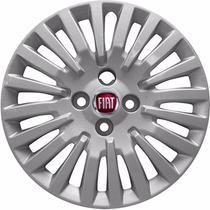 Calota Punto Atractive Palio Aro 15 Emblema Fiat Alumínio