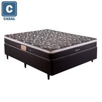 Cama Box Casal Herval + Colchão Mola Bonnel 51x138x188cm