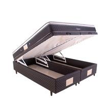 Cama Box Baú Queen Size Herval + Colchão Oppus One Bonnel