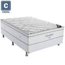 Cama Box Casal (box + Colchão) Ortobom Freedom Mola Ensacada