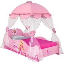 Cama Infantil Barbie Star Com Dossel Pura Magia Bebe Store