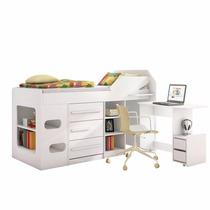 Cama Solteiro Sleep Teen Lol Com Escrivaninha Retrátil