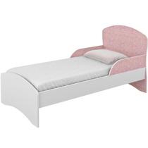 Minicama Branco Rosa Móveis Rodial