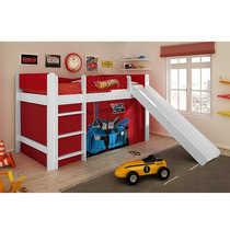 Cama Hot Wheels Play Com Escorregador Menino Pura Magia