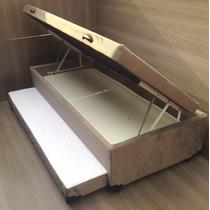 Bicama Com Baú Solteiro (3 Em 1) Suede - Fabricação Própria