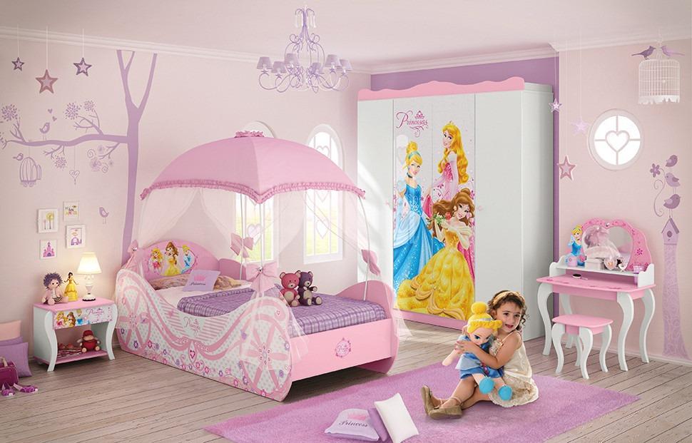 Acessorios Para Quarto Das Princesas ~ Cama Solteiro Infantil Princesas Star + Dossel Dorsel Barbie  R$ 868