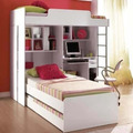 Modulo Office Teen Beliche C/ Cama Auxiliar Juvenil Treliche