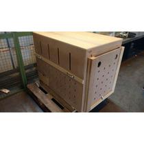Caixa De Transporte De Madeira Para Cães N.4 Pit Bull