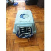 Caixa De Transporte De Animais (azul Com Cinza)