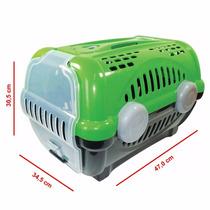 Caixa De Transporte Luxo P/ Cães E Gatos Furacão Pet Verde