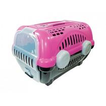 Caixa Transporte 1 Para Cães/gatos - Raças Pequenas-rosa