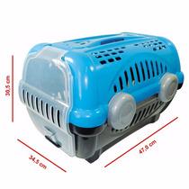 Caixa De Transporte Luxo P/ Cães E Gatos Furacão Pet Azul