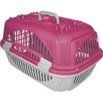 Caixa De Transporte Zoo Plast Rosa N1 Cães E Gatos-pet Hobby